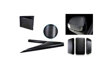 Karbonová folie 3D černá - 100cm