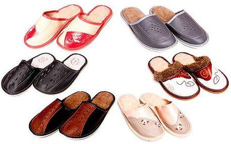 Dámske alebo pánske hrejivé papuče z ovčej vlny