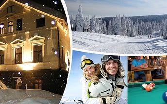 Zimní pobyt pro 2 osoby na 3 dny v penzionu Ranč U Potoka s domácí polopenzí a slevami na skipasy!! Prožijte zimní dovolenou v Jizerských horách ve dvou nebo s rodinou!! Vezměte lyže, běžky, saně a přijeďte!!