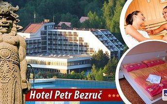 Horský hotel Petr Bezruč*** v Beskydech! Pobyt pro 1 nebo 2 osoby na 3-5 dní s bohatou polopenzí, bazénem se slanou vodou, infrasaunou, parní kabinou nebo solnou jeskyní! Čeká vás ale mnoho dalšího! Možnost i bonusové noci zdarma!