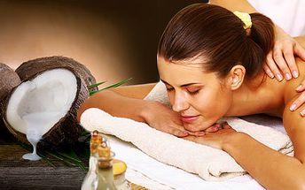 Relaxační kokosová masáž zad a šíje