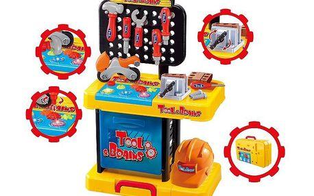 KidsHome Dílna pracovní stůl v kufříku