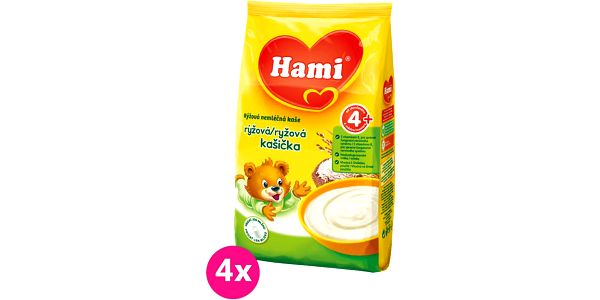 Hami rýžová nemléčná kaše 4x180g