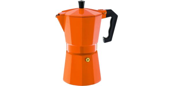 """Cilio Vařič na espresso """"Aluminium Classico"""" oranžový"""