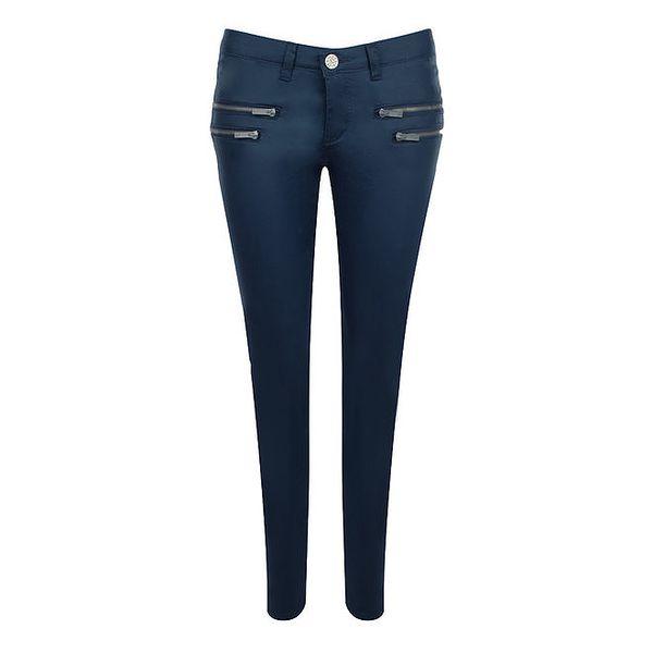 Dámské modré kalhoty se zipy Giorgio Di Mare