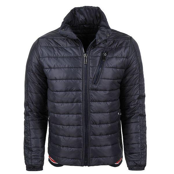 Pánská zimní prošívaná bunda v tmavě modré barvě Giorgio Di Mare