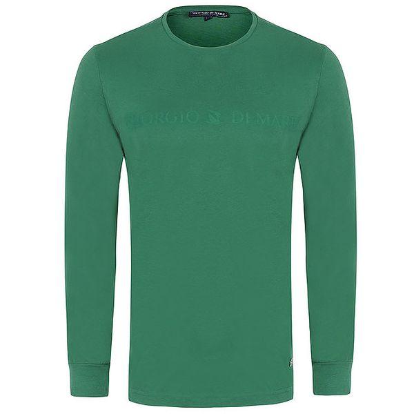 Pánské zelené tričko s dlouhým rukávem Giorgio di Mare