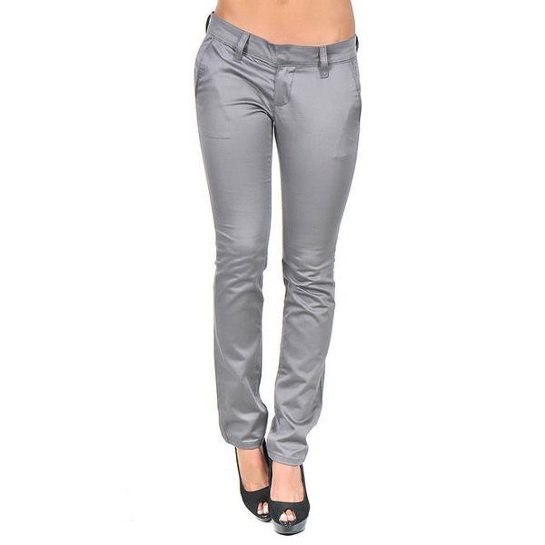 Dámské šedé lesklé kalhoty Giorgio di Mare
