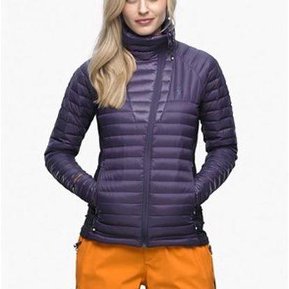 Péřová lehká dámská bunda z nepromokavého materiálu