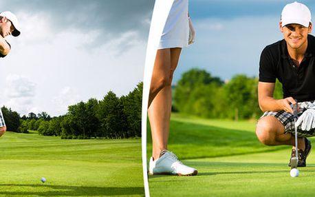 Seznámení s golfem – 2hodinová lekce + hra