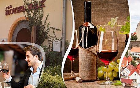 Pobyt ve vinařské perle jižní Moravy v hotelu BAX *** Znojmo pro 2 osoby na 3 dny s bohatou polopenzí, přípitkem a lahví výborného vína. V ceně navíc poukázka na konzumaci do italské restaurace a sleva na vstup do termálních lázní Laa!