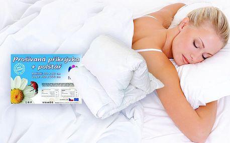 Prošívaná přikrývka s polštářem NOVIA vhodná pro alergiky