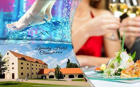Zámecký pobyt v Hotelu Ctěnice s romantickou večeří a Garra Ruffa terapií