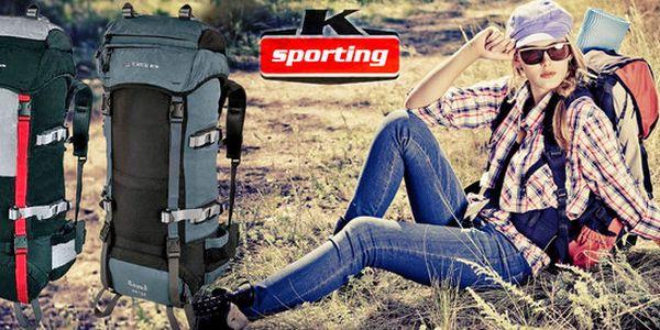 Turistický batoh LOAP o objemu 60+10 litrů