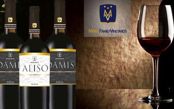 Červená vína ze Sicílie