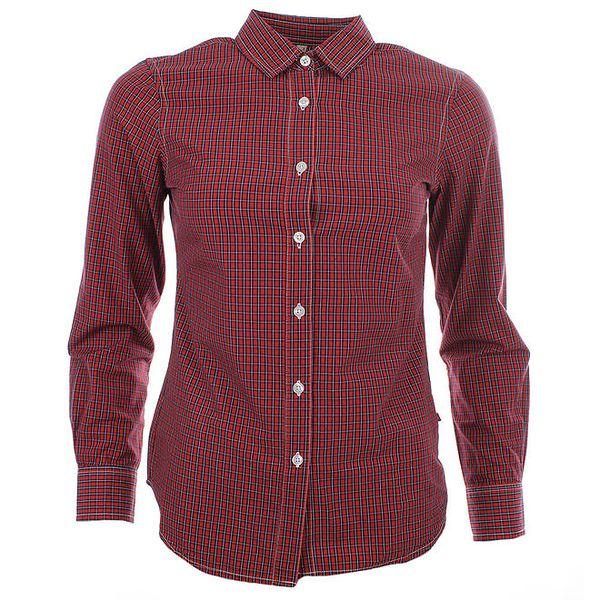 Dámská červená košile s kostičkovým vzorem Big Star