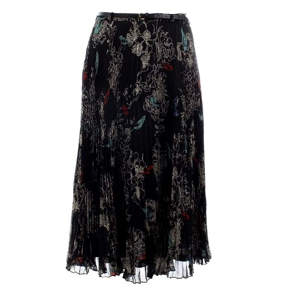 Dámská černá vzorovaná plisovaná sukně Uttam Boutique