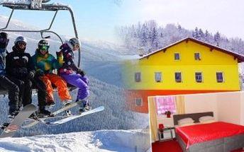 Super zimní relax u Harrachova pro DVA. 4denní pobyt s polopenzí a saunou. Ski areál, běžecké stopy.