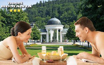 Mariánské Lázně s polopenzí a 11 procedurami pro dva v hotelu Romania***