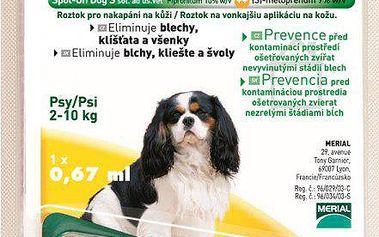 Roztok proti blechám Merial Frontline Combo spot on Dog S 1 x 0,67ml