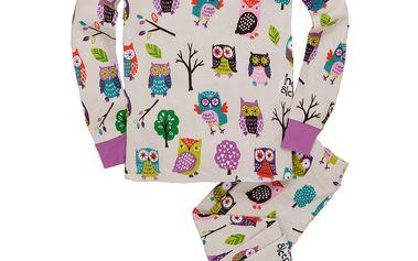 Originální dívčí pyžamko se sovičkami