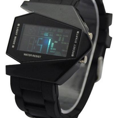 Futuristické digitální LED hodinky - 6 barev