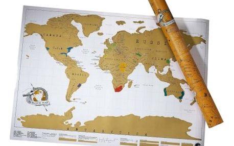Hravá i poučná: Stírací mapa světa