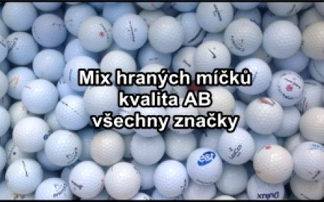 Do nové sezony s novou municí, aneb golfových míčků není nikdy dost! Získejte hrané golfové míčky všech různých značek - jen za 6,90 Kč / ks. Balení po 50 ks.