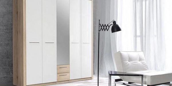Prostorná pětidveřová šatní skříň Cremona Plus