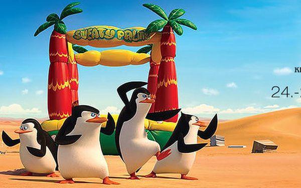 2 lístky na 3D projekci Tučňáků z Madagaskaru