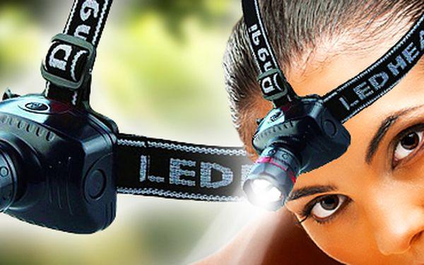 Vysoce svítivá LED čelovka: nepřetržité svícení 10 hodin a dosvit až 150 metrů!