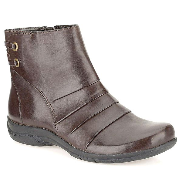 Dámské hnědé kotníkové boty Clarks