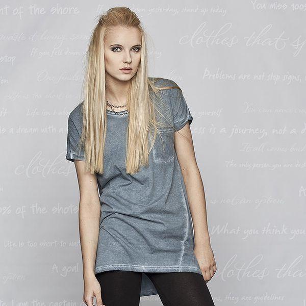 Dámské modré tričko s krátkým rukávem Paphia