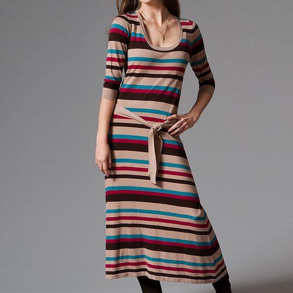 Dámské dlouhé pruhované šaty Pietro Filipi
