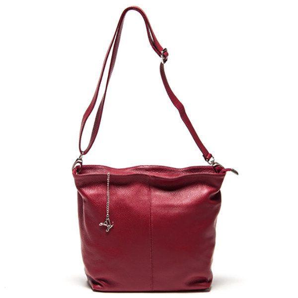 Dámská bordó kabelka s dlouhým popruhem Luisa Vannini