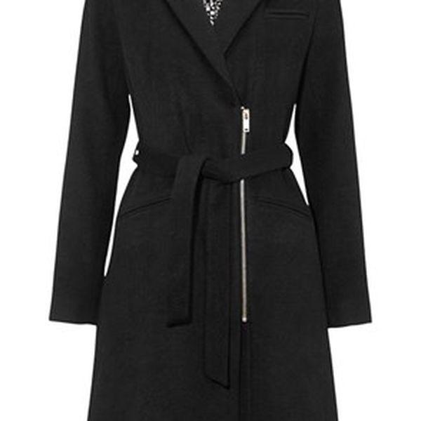 Kašmírový dámský kabát s páskem