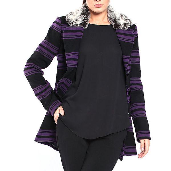 Dámský kabátek s fialovými pruhy Vera Ravenna
