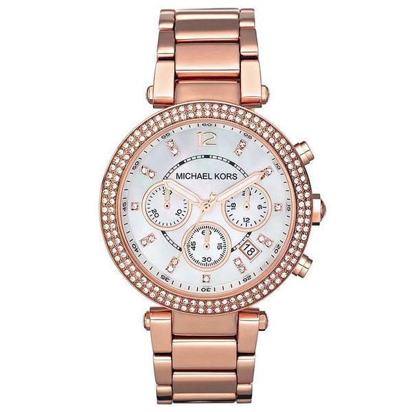 Dámské pozlacené ocelové hodinky v růžové barvě Michael Kors