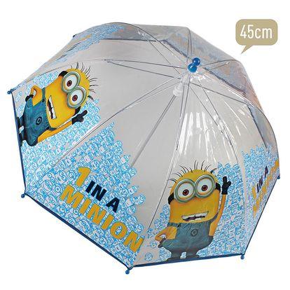 Průhledný deštník se žlutými Mimoni