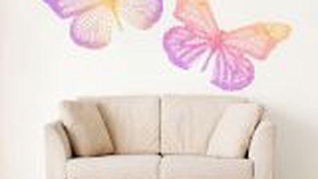 HouseDecor - dekorativní samolepka na zeď - Color butterfly