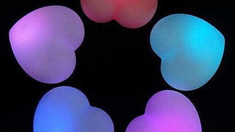 Noční mini led světlo ve tvaru srdce (2 ks)