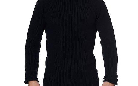 Pánský černý svetr se stojáčkem na zip Paul Stragas