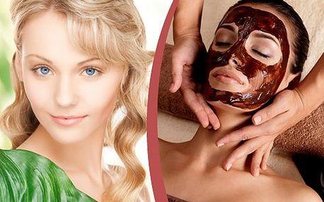 Mimořádná sleva - Nechte se hýčkat a zároveň pomozte své pleti k prozáření a vyživení čokoládovou maskou a oční vyživující maskou ze zeleného čaje, vyčištění ultrazvukovou špachtlí a vyhlazení galvanickou žehličkou.
