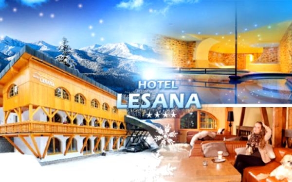 Nádherný hotel Lesana, Špindlerův Mlýn! Pobyt s POLOPENZÍ, WELLNESS, BAZÉNEM a lyžařským instruktorem!