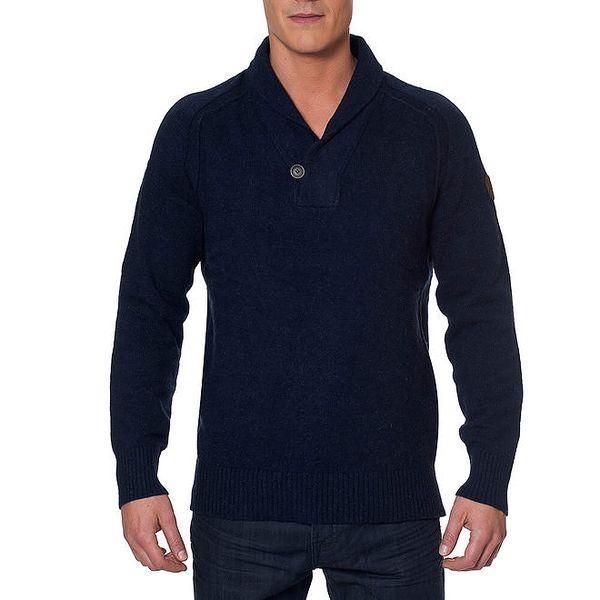 Pánský tmavomodrý svetr s knoflíkem Paul Stragas