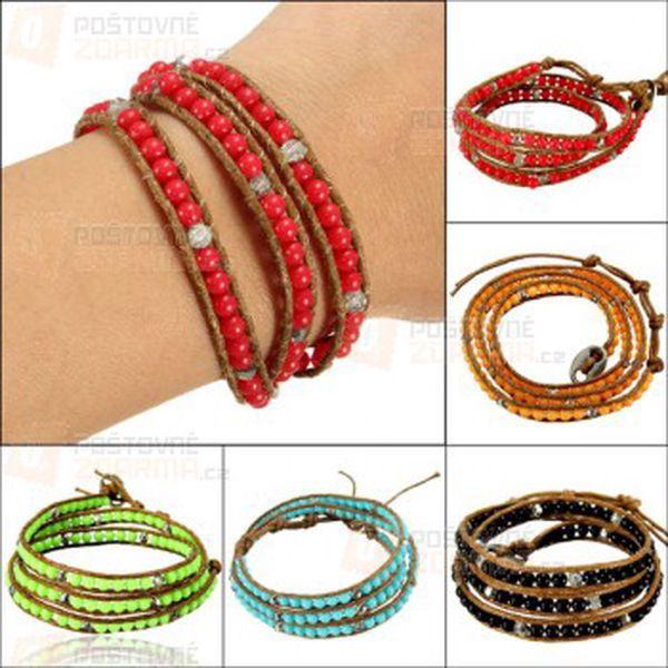 Rozkošný náramek s barevnými korálky a poštovné ZDARMA! - 9999916505