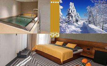 Wellness pobyt pro dva v 4* Hotelu 99 v Krušných horách