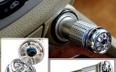 12V Mini osvěžovač vzduchu do auta stříbrný