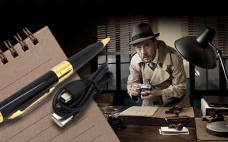 Špionážní pero! HD kamera, fotoaparát a čtečka TF karet v jednom luxusním peru s kterým Vám nic neunikne!