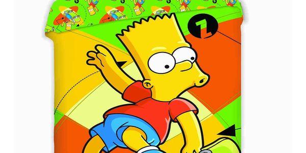 Jerry Fabrics Dětské bavlněné povlečení Bart Skate, 140 x 200 cm, 70 x 90 cm